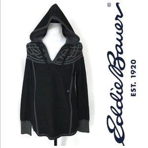 Eddie Bauer Women's Hooded Sweater Pullover Sz M